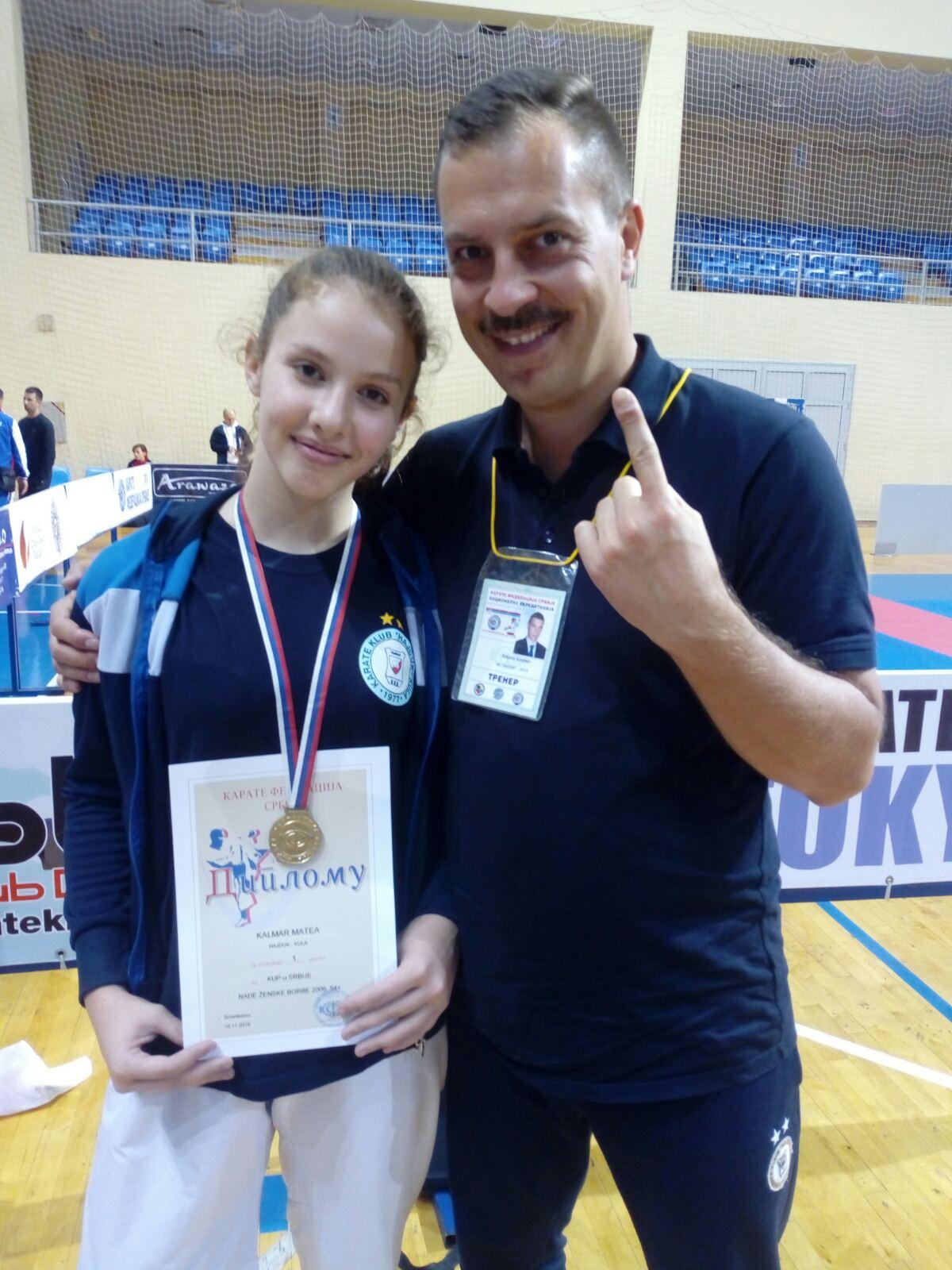 Matea Klamar i trener Nikola Greber (1)
